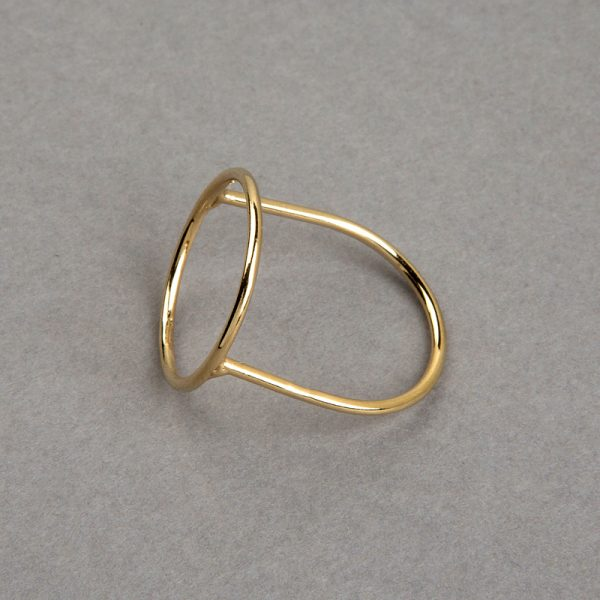 Aro - Anillo de plata 925 con baño de oro de 18k