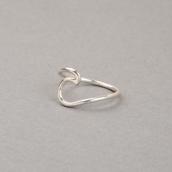 Ola anillo de plata 925