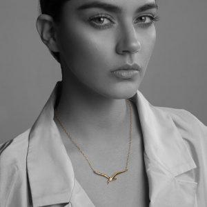 collar plata oro