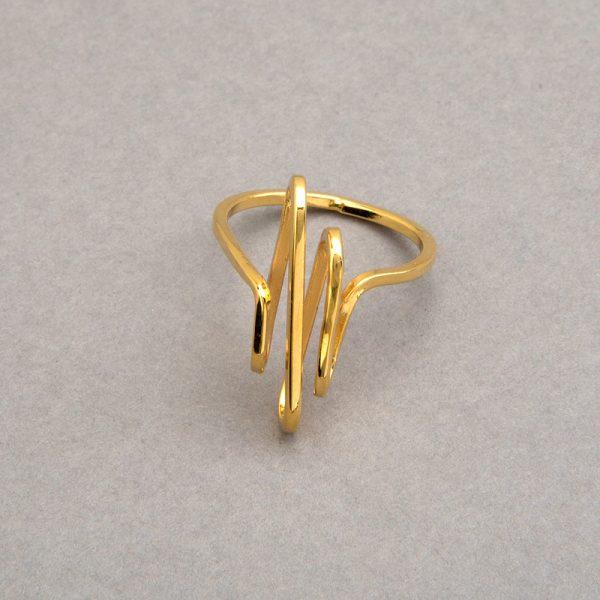 Histograma - Anillo de plata 925 con baño de oro de 18k