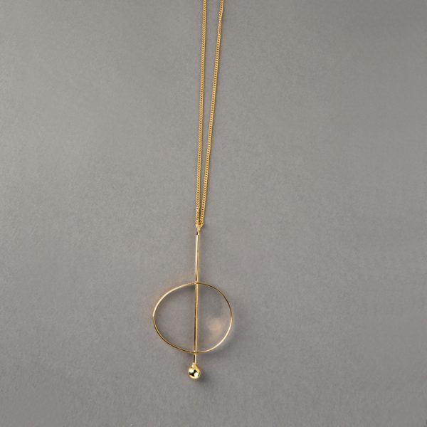 Órbita Elíptica - aretes de plata 925 con baño de oro de 18k