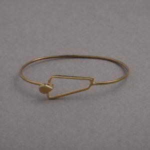 pulsera geometría triángulo oro